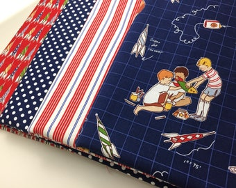 Children at Play, by, Sarah Jane, Fat Quarter Bundle, Rocket Launch Club, boy bundle, Micheal Miller Fabrics, OOP, VHTF, FQ, Quilitng Cotton