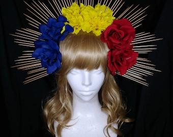 Philippines sunburst flower headband headpiece