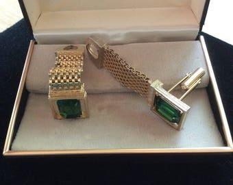 cuff links emerald langley's