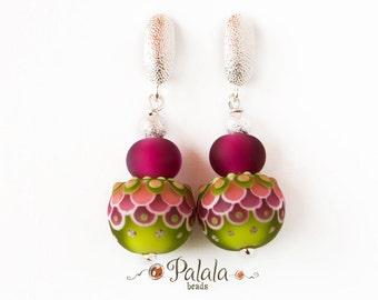 Handmade Lampwork Beads and Sterling Silver Earrings