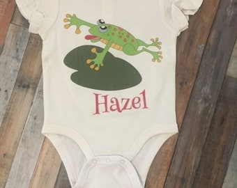 Personalized frog shirt/onesie