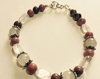 Rose Quartz & Rhodonite Bracelet