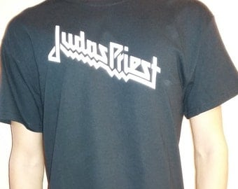 JUDAS PRIEST  T-shirt 100 % Cotton and 1 stisker Free