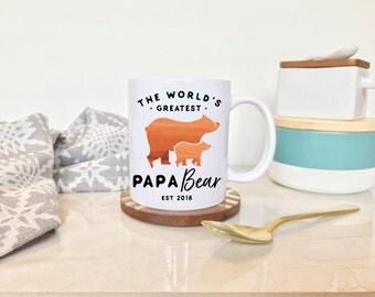 Father Mug, Papa Bear Mug, Pops Mug, Daddy Mug, New Dad Mug, New Dad Gift, Daddy, Ceramic Mug, Gifts for Dad, New Daddy, Bear Mug, Coffee