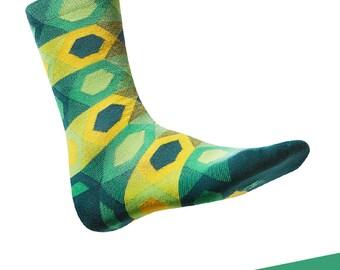 """Colorful, design cotton socks TAKAPARA. Model: """"Struga 1m4"""""""