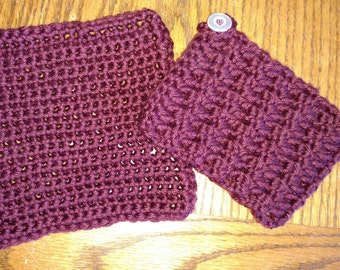 Mug Cozy and Dish Cloth Set