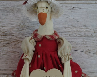 Retro Style Duck Novelty A Lovely Lady & A Grumpy Man Live Here FD2215