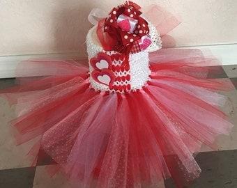 Valentines Tutu Dress, Tulle Dress, Valentines, Red Dress, Girls Valentines Outfit