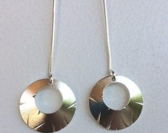 Simply Silver Dangle Earrings/Art Deco Inspired
