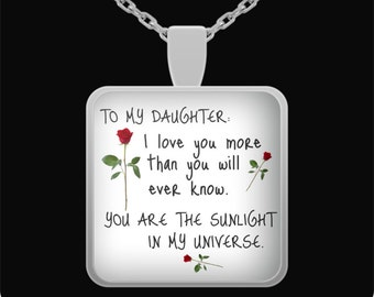 Father daughter gift, gift for daughter, daughter gift, daughter necklace, daughter jewelry, gifts for daughter, mother daughter gift