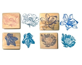 Flower stamp hand carved
