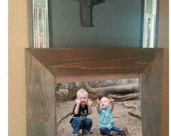 Father's Day gift. Concealed picture frame.   Locking picture frame.  Safety lock gun concealment furniture. Secret gun compartment. Hidden.