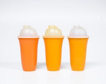 Retro Orange Tupperware shake Cup-Vintage kitchen-Milkshake