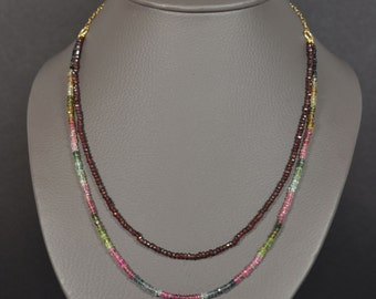 Necklace tourmaline and Garnet