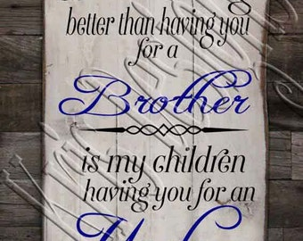 The Only Thing Better than having you as a Brother - Uncle SVG PNG JPG