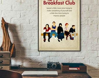 The Breakfast Club • Movie Quotes Breakfast Club Poster Movie Prints Minimalist Movie Poster Retro Movie Poster 80s Movies 80s Poster