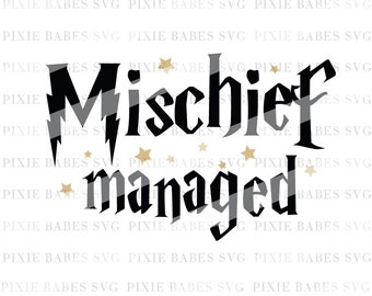 Mischief Managed SVG, Harry Potter SVG, Hogwarts svg, svg Cutting File, Cricut svg, Silhouette svg, Hogwarts Alumni svg, Harry Potter
