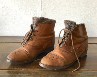 Vintage Womens Leather Boot