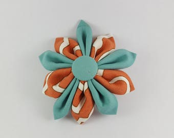 Clownfish and teal large 3 in 1 flower