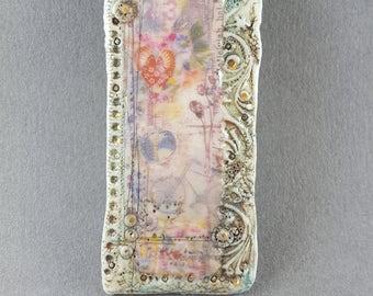 Artisan Porcelain Brooch #18