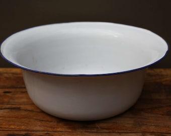 email, Bowl, basin, bol, bassine, bowl, washbowl, white and blue.