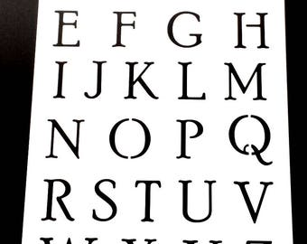 Alphabet Lettering Stencils OFFER, Uppercase, Lowercase, Numbers or All 3, Paint Words, Messages, Signs, Various Sizes 190 Micron Design no2