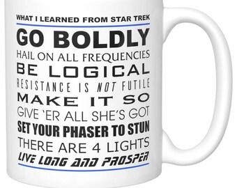 "Original ""What I Learned From Star Trek"" Coffee Mug"