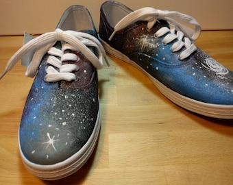 Custom Vans Lace Up Galaxy Shoe - Vans Authentic - Vans Low Pro - Vans Old Skool