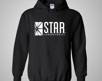 The Flash - Star Labs Hoodie / Star Laboratories Hoodie / Arrow / Gift or Christmas Idea