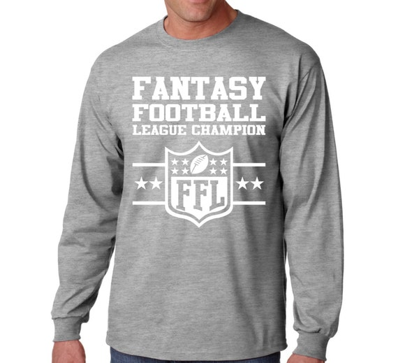 Long Sleeve Fantasy Football T Shirt Champion League Tee