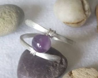 Ring in Silver 925 with Amethyst Pearl