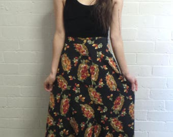 Strawberry Basket Long Skirt