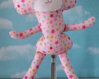 Teddy Bear- Pink Stars