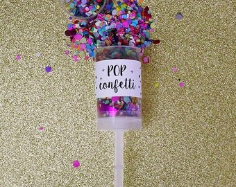 Multicolor Confetti Push Pop // Great for Weddings, Birthdays, Special Events