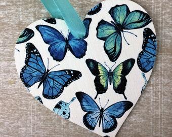 Blue Butterfly Heart
