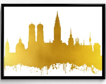 Munich Skyline, Travel, City Skyline, Poster, gift, Poster, Room Decor, printable wall art (84)