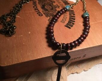 Beautiful, vintage key pendant