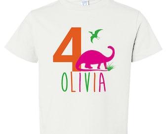 Girl Dinosaur Party Shirt, Pink Dinosaur Birthday Party Shirt, Pink Dinosaur Shirt, Girl Dinosaur Shirt, Personalized Girl Dinosaur Shirt