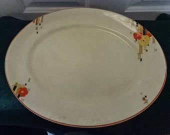 Classic Art Deco Homeleigh Ware Meat/Serving Platter/Mayfair/Vintage/1930s