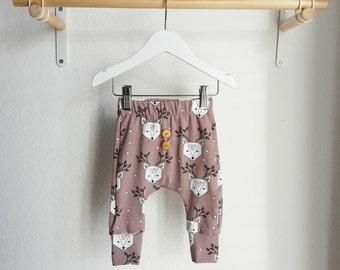 Organic baby leggings - Elvelyckan dear deer