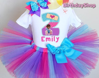 Doc McStuffins Birthday Outfit / 1st, 2nd, 3rd, 4th, 5th Doc Outfit / Doc Birthday Tutu Outfit / Tutu Birthday Outfit / Doc Party Dress