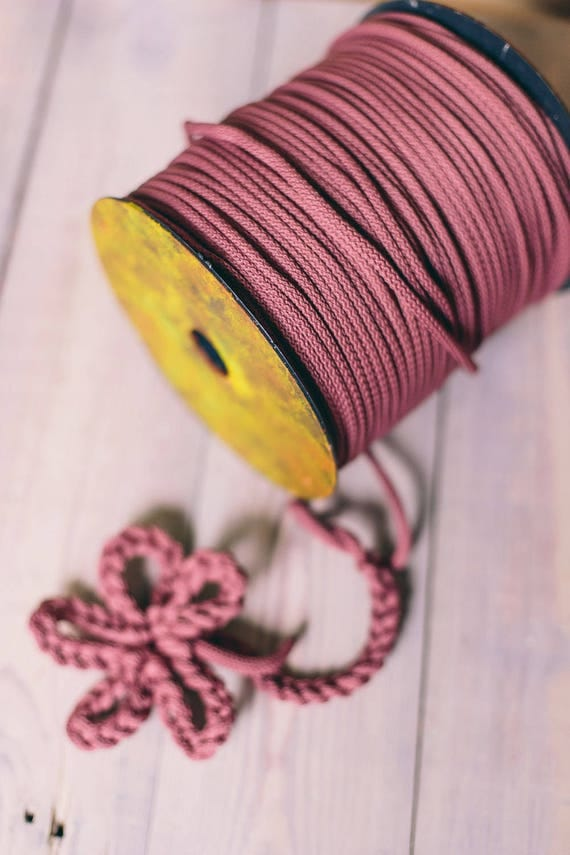 DARK PINK cord- knitting supplies- knitting yarn- crochet rope- chunky yarn- diy projects- craft projects- rope cord- macrame cord #226