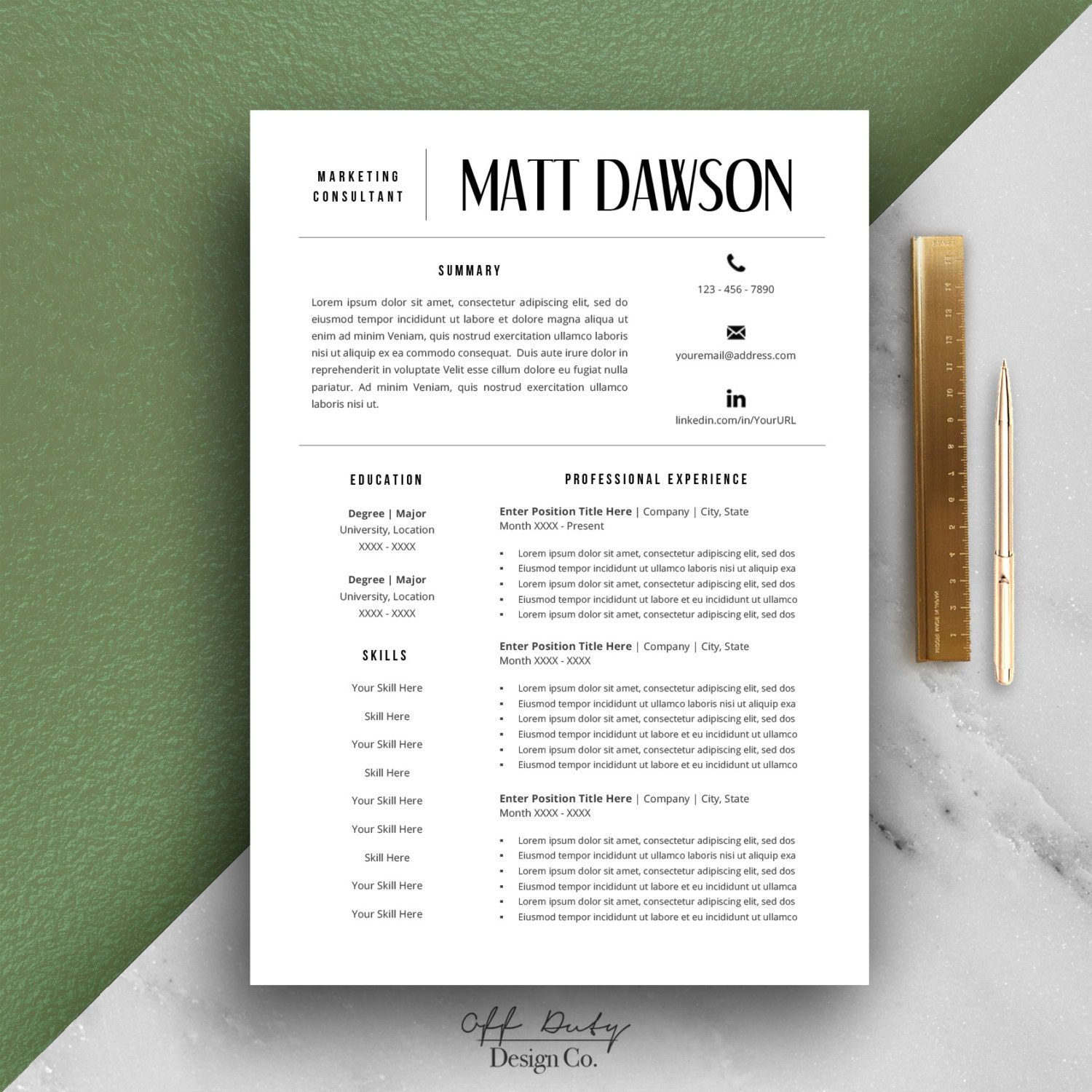 flash sale men u0026 39 s resume template modern resume