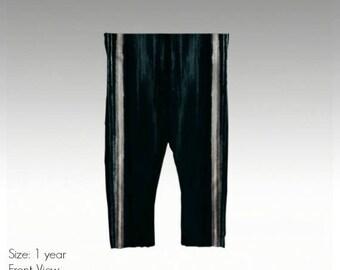 "Baby/Toddler Leggings by JRG Original Design - ""Black & White Drippy Paint"" in sizes: 6mo, 1yo, 2yo, 3yo (quick dry, antibacterial)"