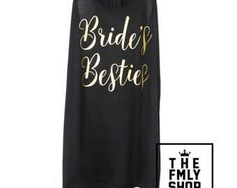 Bride's Besties Tank Top, Bachelorette Party Tank, Bride Tank Top, Bride Shirt, Bride Gold Shirt, Bride's Friends Shirts, Braidsmaid
