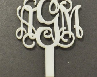 Monogram cupcake toppers perfect for parties or weddings- set of 10