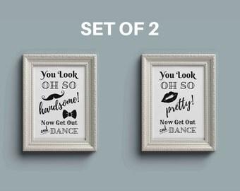 Bathroom Basket Signs For Weddings bathroom wall decor | etsy