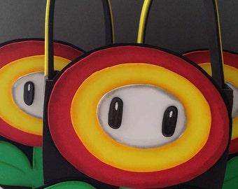 12-fire flower,Mario Bross,super Mario Bross party favour,Mario Bross