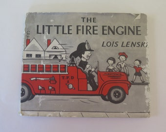 The Little Fire Engine, Lois Lenski, 1961, Vintage Illustrated Children's Book, Printed in UK, Oxford University Press, London