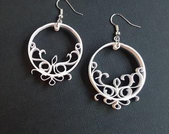 Romantic quilled earrings | Handmade paper earrings